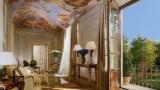 Living room with-terrace ceiling mural. Four Seasons Hotel Firenze 5*